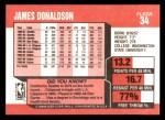 1989 Fleer #34  James Donaldson  Back Thumbnail