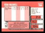 1989 Fleer #144  Vernon Maxwell  Back Thumbnail