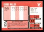 1989 Fleer #65  Reggie Miller  Back Thumbnail