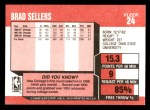 1989 Fleer #24  Brad Sellers  Back Thumbnail