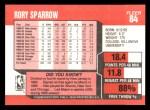 1989 Fleer #84  Rory Sparrow  Back Thumbnail