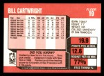1989 Fleer #19  Bill Cartwright  Back Thumbnail