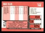 1989 Fleer #146  Dale Ellis  Back Thumbnail