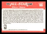 1989 Fleer #165   -  Dominique Wilkins / Moses Malone All-Star Back Thumbnail
