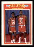 1989 Fleer #165   -  Dominique Wilkins / Moses Malone All-Star Front Thumbnail
