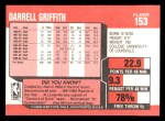 1989 Fleer #153  Darrell Griffith  Back Thumbnail