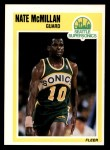 1989 Fleer #150  Nate McMillan  Front Thumbnail