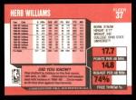 1989 Fleer #37  Herb Williams  Back Thumbnail