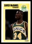 1989 Fleer #148  Xavier McDaniel  Front Thumbnail