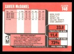 1989 Fleer #148  Xavier McDaniel  Back Thumbnail