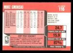 1989 Fleer #116  Mike Gminski  Back Thumbnail
