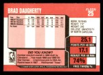 1989 Fleer #25  Brad Daugherty  Back Thumbnail