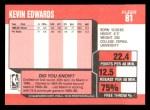 1989 Fleer #81  Kevin Edwards  Back Thumbnail