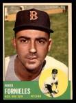 1963 Topps #28 WHI Mike Fornieles  Front Thumbnail