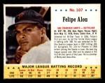 1963 Jello #107  Felipe Alou  Front Thumbnail