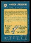 1969 O-Pee-Chee #109  Gord Labossiere  Back Thumbnail