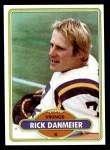 1980 Topps #329  Rick Danmeier  Front Thumbnail