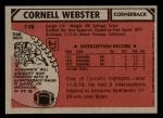 1980 Topps #118  Cornell Webster  Back Thumbnail