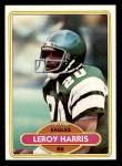 1980 Topps #318  Leroy Harris  Front Thumbnail