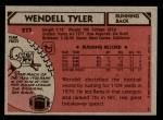 1980 Topps #273  Wendell Tyler  Back Thumbnail