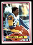 1980 Topps #273  Wendell Tyler  Front Thumbnail