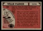 1980 Topps #368  Willie Parker C  Back Thumbnail