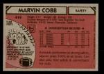 1980 Topps #419  Marvin Cobb  Back Thumbnail