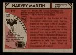 1980 Topps #270  Harvey Martin  Back Thumbnail