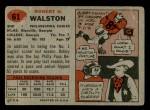 1957 Topps #61  Bob Walston  Back Thumbnail