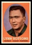 1958 Topps CFL #41  Lynn Bottoms  Front Thumbnail