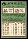 1967 Topps #461  Bob Miller  Back Thumbnail