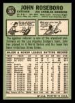 1967 Topps #365  John Roseboro  Back Thumbnail