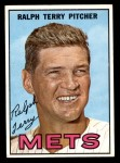 1967 Topps #59  Ralph Terry  Front Thumbnail