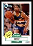 1990 Fleer #50  Lafayette Lever  Front Thumbnail
