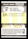 1990 Fleer #29  Will Perdue  Back Thumbnail