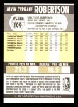1990 Fleer #109  Alvin Robertson  Back Thumbnail
