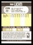 1990 Fleer #51  Todd Lichti  Back Thumbnail