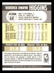1990 Fleer #64  Rod Higgins  Back Thumbnail