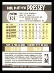 1990 Fleer #107  Paul Pressey  Back Thumbnail