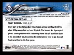 2018 Topps Update #25  Willy Adames  Back Thumbnail