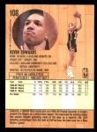 1991 Fleer #108  Kevin Edwards  Back Thumbnail