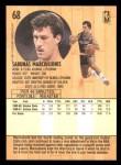 1991 Fleer #68  Sarunas Marciulionis  Back Thumbnail