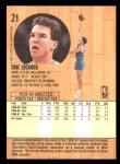 1991 Fleer #21  Eric Leckner  Back Thumbnail