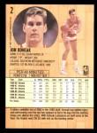 1991 Fleer #2  Jon Koncak  Back Thumbnail