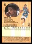 1991 Fleer #20  Kendall Gill  Back Thumbnail