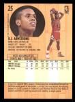 1991 Fleer #25  B.J.Armstrong  Back Thumbnail