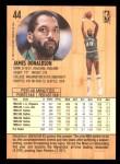 1991 Fleer #44  James Donaldson  Back Thumbnail