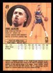 1991 Fleer #49  Chris Jackson  Back Thumbnail
