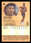 1991 Fleer #50  Marcus Liberty  Back Thumbnail
