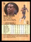 1991 Fleer #56  Orlando Woolridge  Back Thumbnail